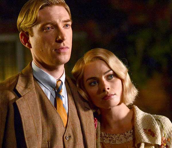 Domhnall Gleeson and Margot Robbie