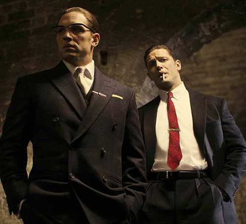 Tom Hardy as Ron and Reg Kray